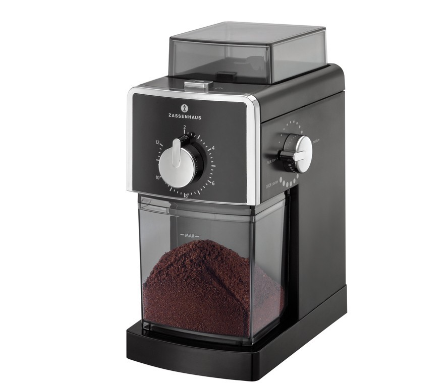 Zassenhaus KINGSTON - Elektrický mlýnek na kávu černý