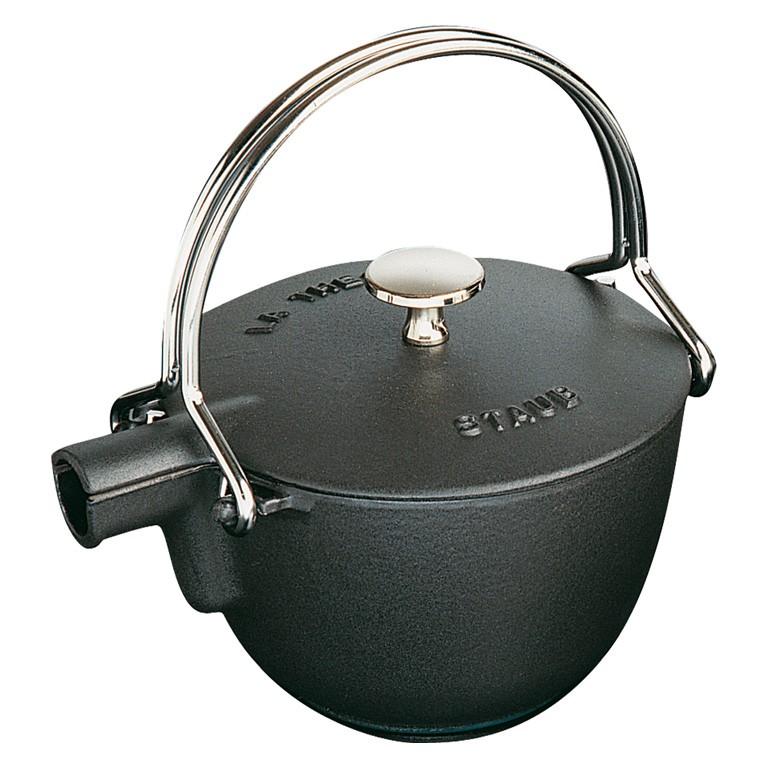 Staub Litinová konvice na vaření vody 1,15 l - černá
