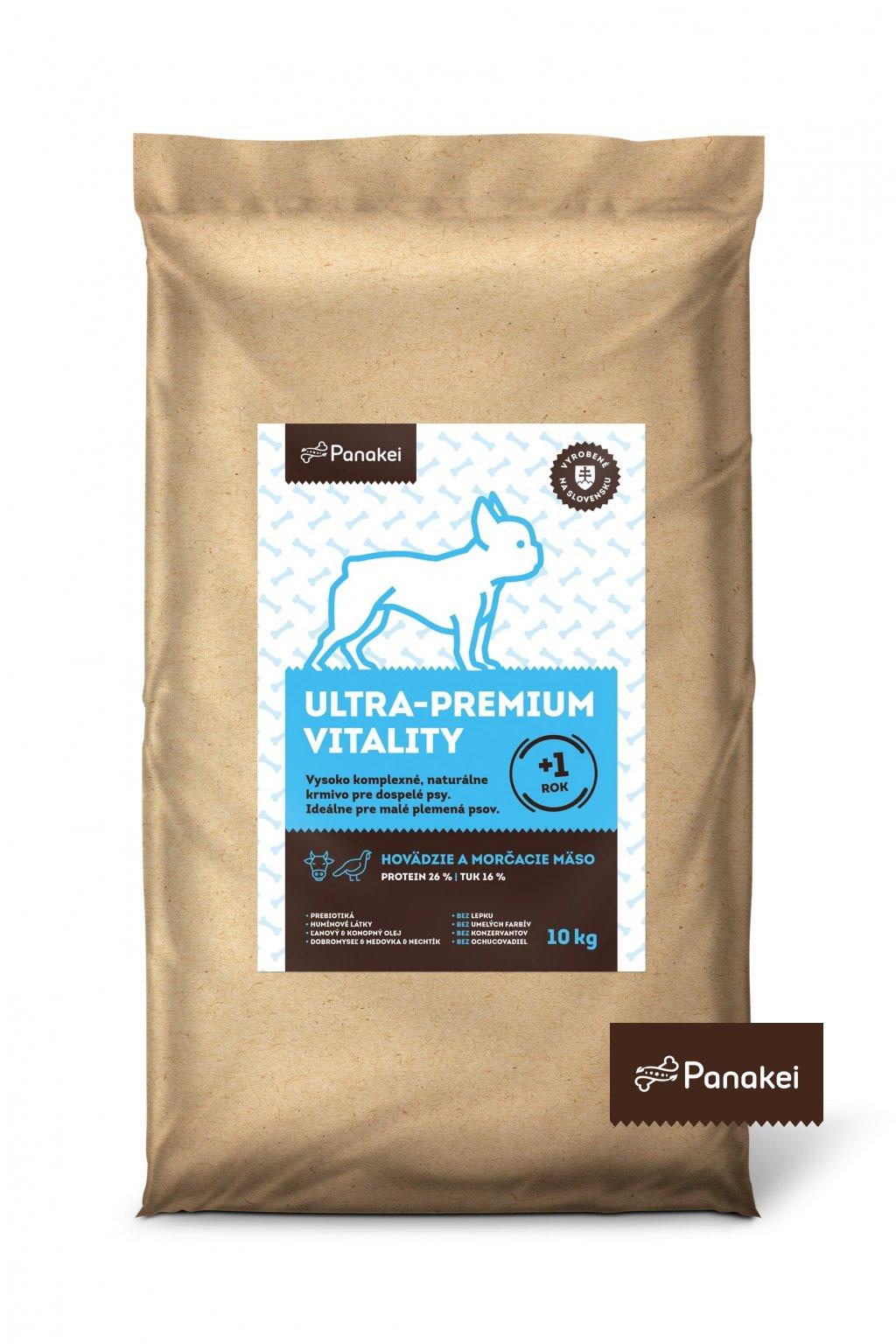 Pack2 ULTRAPREMIUM VITALITY Dospely pes XS+S 10kg 2 min min