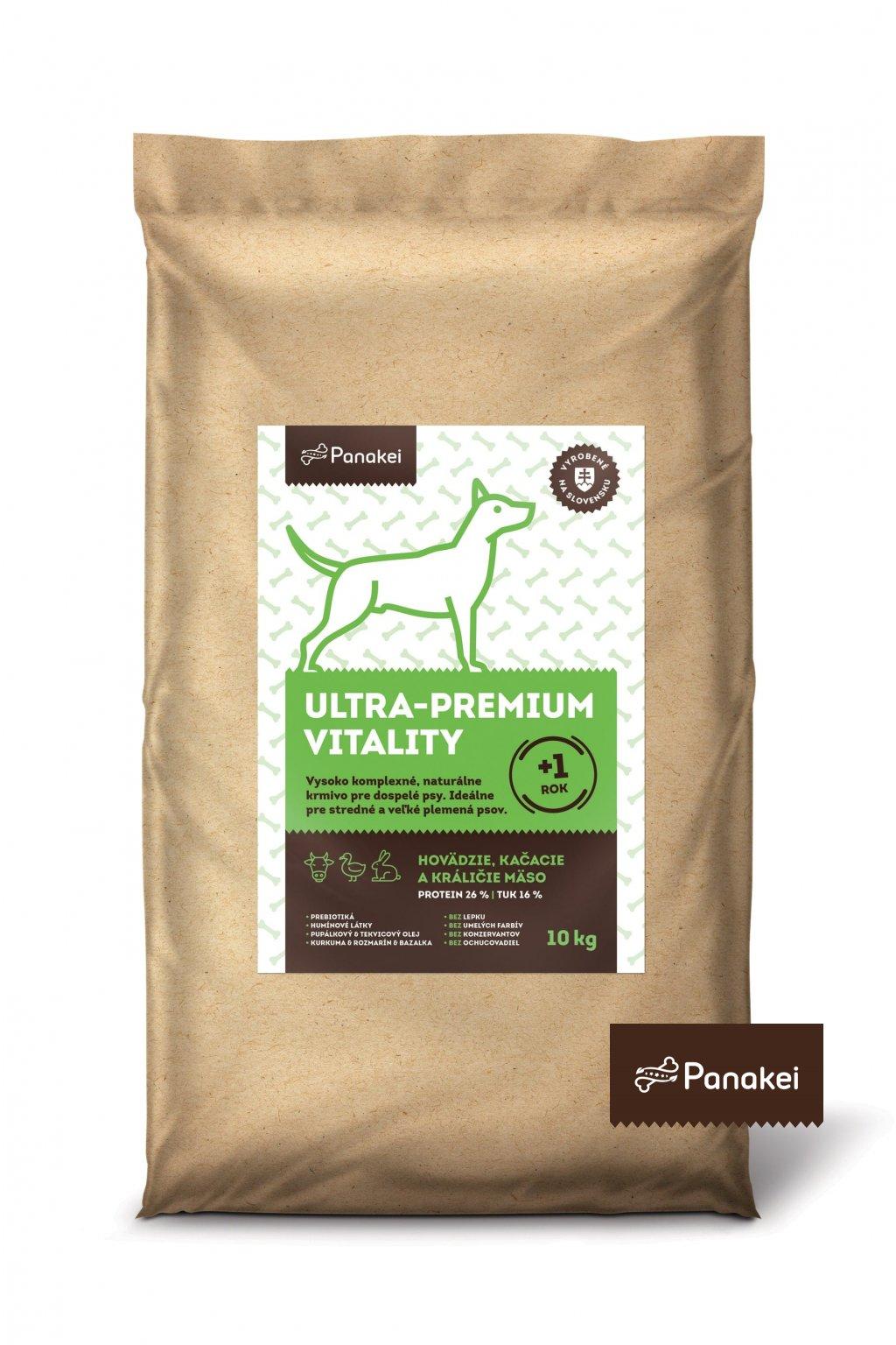 Pack2 ULTRAPREMIUM VITALITY Dospely pes M+L+XL 10kg 2 min (1) min