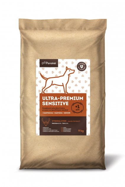Pack2 ULTRAPREMIUM SENSITIVE Dospely pes M+L+XL 12kg (1) min min min