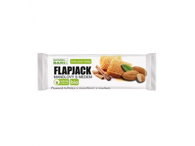 Flapjack mandlový s medem BIO 40 g