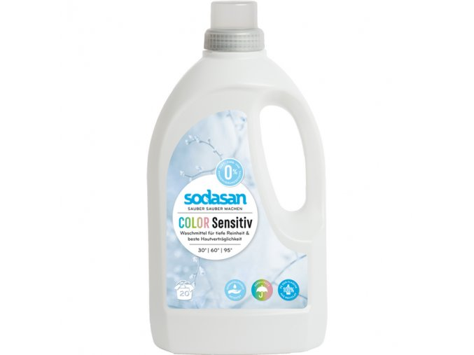 Sodasan BIO Color Sensitiv - tekutý gel na praní 1,5 l