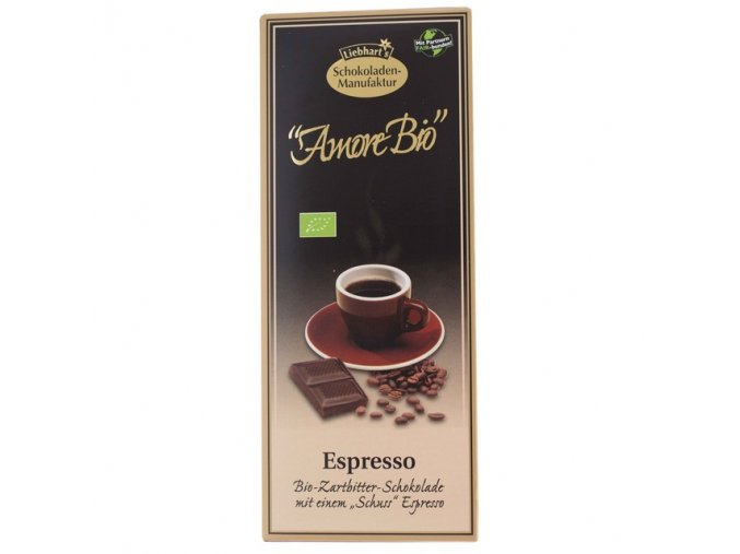 Čokoláda hořká Espresso BIO 100 g LIEBHART´S