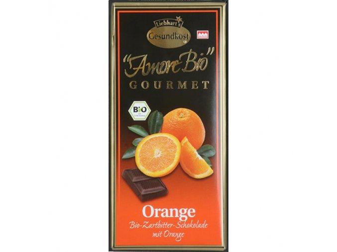 Hořká čokoláda s pomerančem Liebharts  BIO 100 g