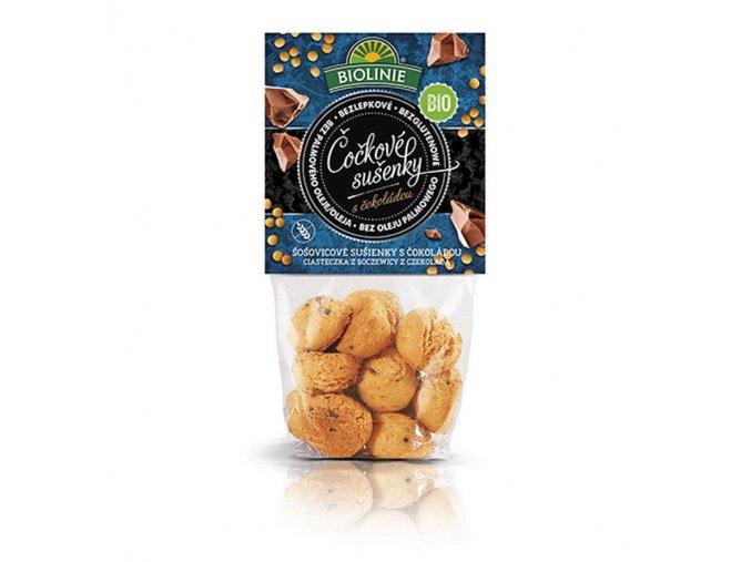 BIOLINIE Čočkové sušenky s čokoládou 100 g