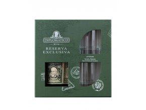 Ron Diplomático Reserva Exclusiva 40% 0,7l dárkové balení + 2 skleničky