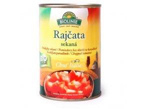 BIOLINIE KONZERVA rajčata sekaná sterilovaná BIO 400 g