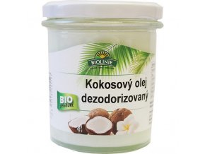 BIOLINIE kokosový olej dezodorizovaný BIO 240 g