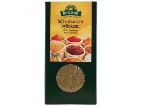 BIOLINIE sůl s 12-ti bylinkami BIO 120 g