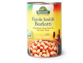 BIOLINIE KONZERVA fazole hnědé Borloti 400 g BIO