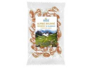 Alpské bylinné bonbóny se sladidlem 100 g