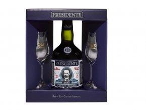 Presidente Marti rum 15yo 40% 0,7l + 2x sklenička