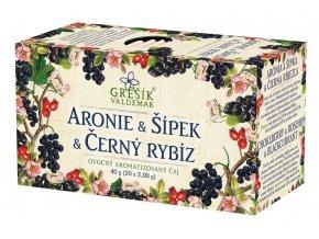 Aronie & Šípek & Černý rybíz porcovaný čaj Grešík