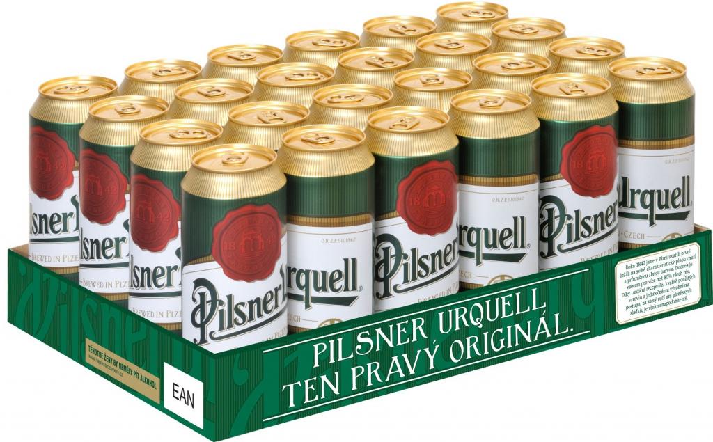 Pilsner Urquell 0,5l multipack 6x0,5l plech + NAD 250 Kč ROZVOZ PRAHA ZDARMA