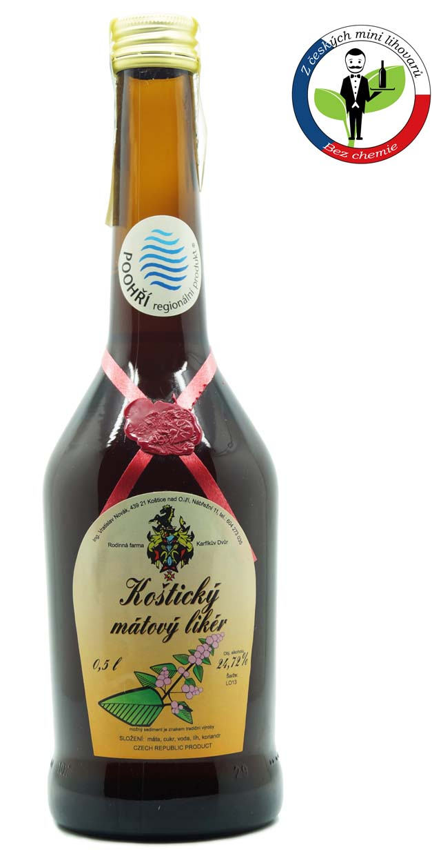 Karfíkův dvůr Karfíkův mátový likér 24,7% 0,5l