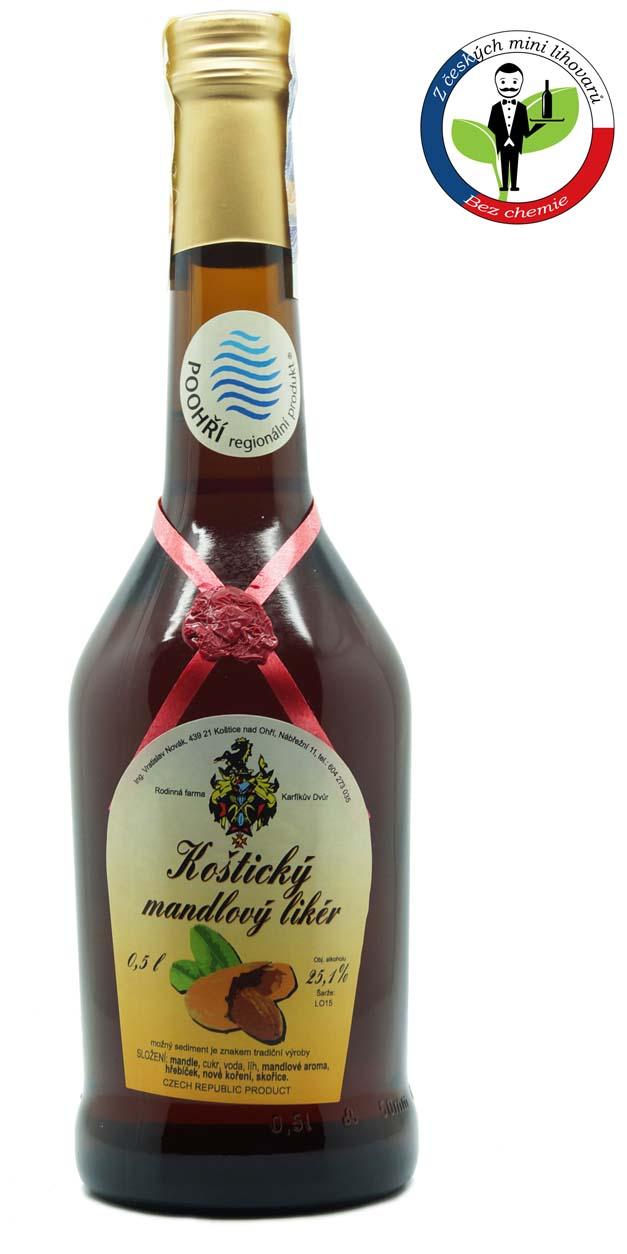 Karfíkův mandlový likér 25,1% 0,5l