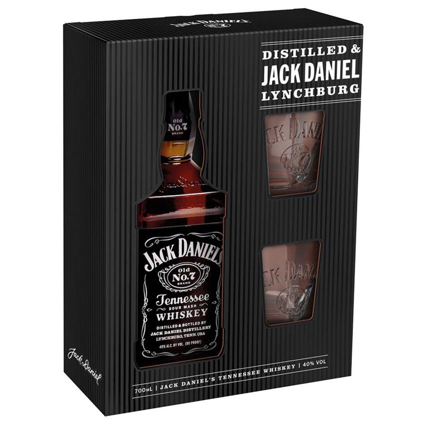Jack Daniel's 40% 0,7l dárkové balení+ROZVOZ PRAHA ZDARMA