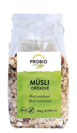 PRO-BIO obchod.spol. s r.o. Müsli oříškové 300 g BIO PROBIO