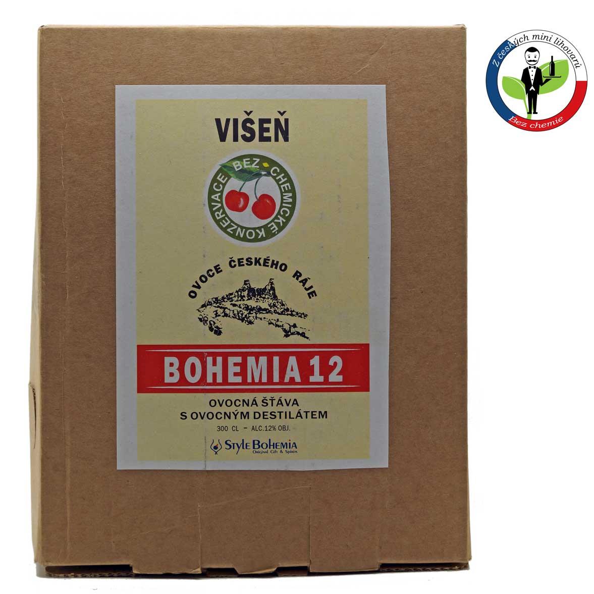 Bohemia 12 Višeň BOX 3l - alkoholizovaný mošt + ROZVOZ PRAHA ZDARMA
