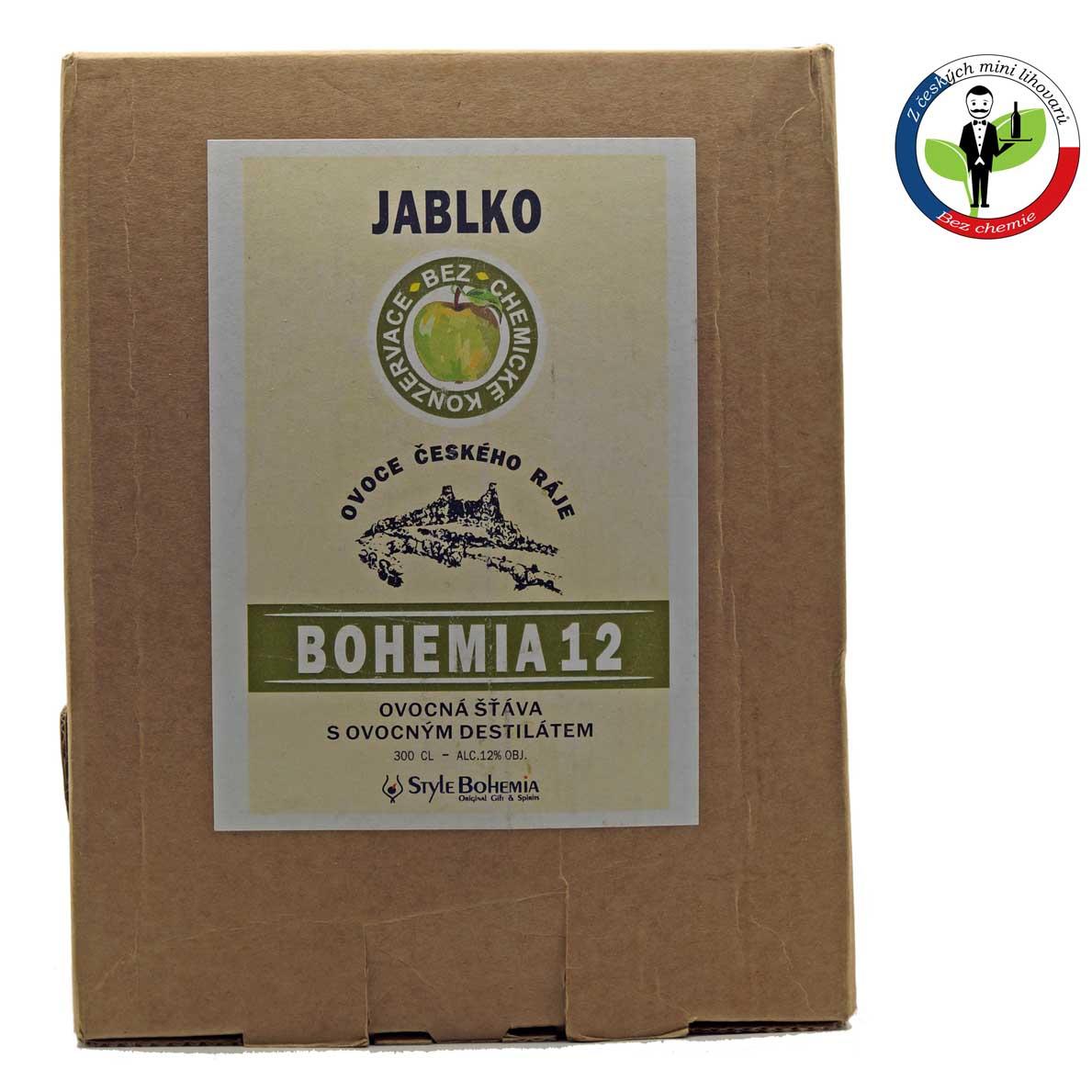 Bohemia 12 Jablko BOX 3l - alkoholizovaný mošt + ROZVOZ PRAHA ZDARMA