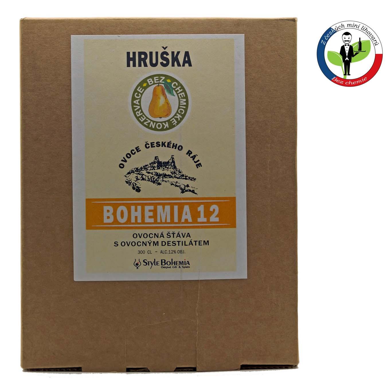 Bohemia 12 Hruška BOX 3l - alkoholizovaný mošt + ROZVOZ PRAHA ZDARMA