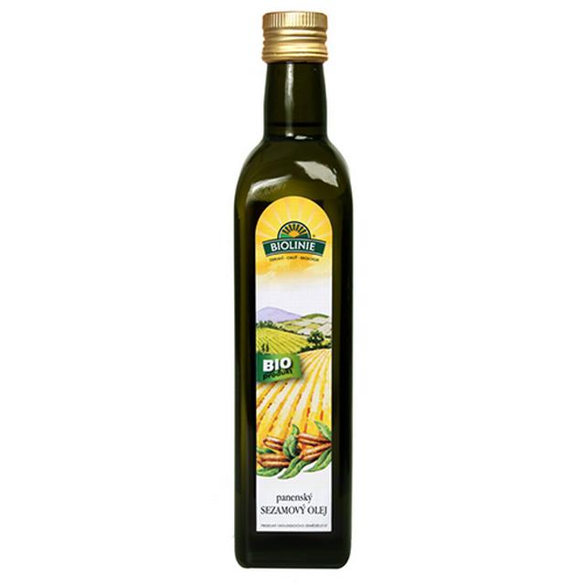 PRO-BIO, obchodní společnost s r.o. BIOLINIE panenský sezamový olej BIO 0,5 l