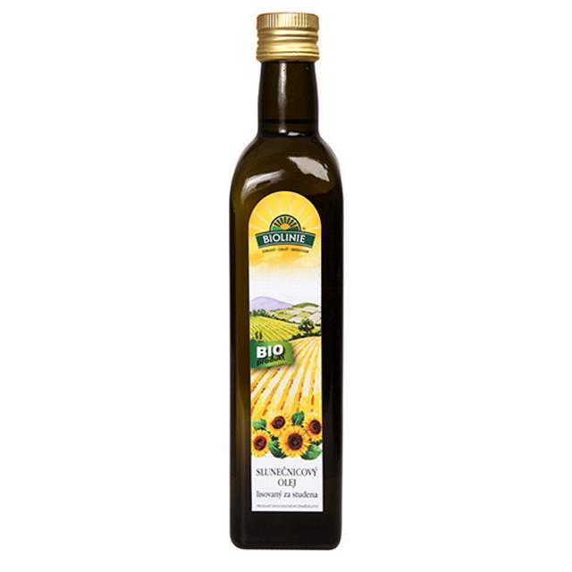 Levně PRO-BIO, obchodní společnost s r.o. BIOLINIE slunečnicový olej lis.za studena BIO 0,5 l