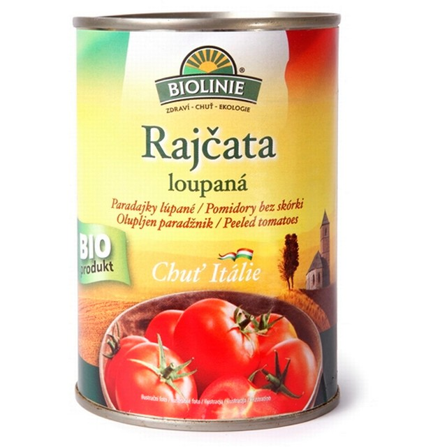 PRO-BIO, obchodní společnost s r.o. BIOLINIE KONZERVA rajčata loupaná sterilovaná BIO 400 g