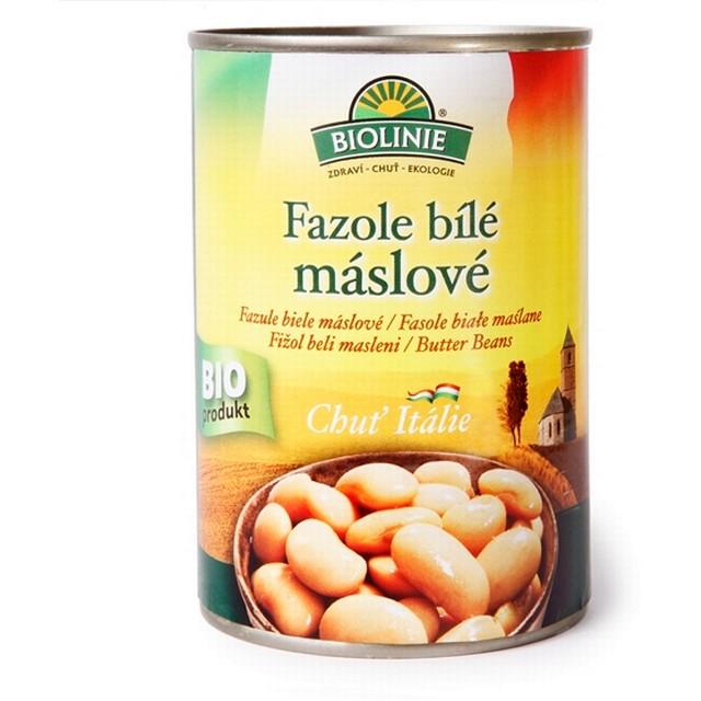 PRO-BIO, obchodní společnost s r.o. BIOLINIE KONZERVA fazole bílé máslové 400 g BIO