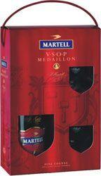 Martell VSOP 40% 0,7l + 2x sklenka