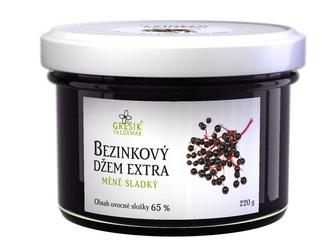 Valdemar Grešík Džem Bezinkový extra méně sladký 220 g