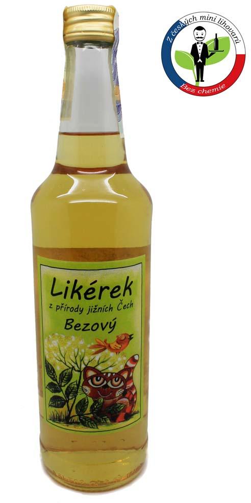 Chvalešovický likér z květu bezu 38% 0,5l+ROZVOZ PRAHA ZDARMA