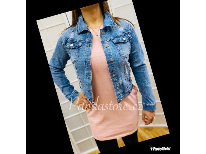 džínová bunda světlá