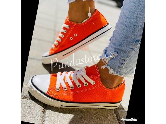 Tenisky oranžové