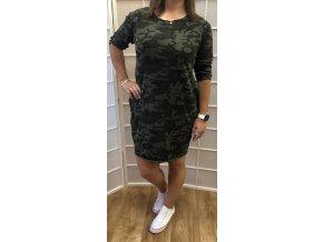 šaty army big size