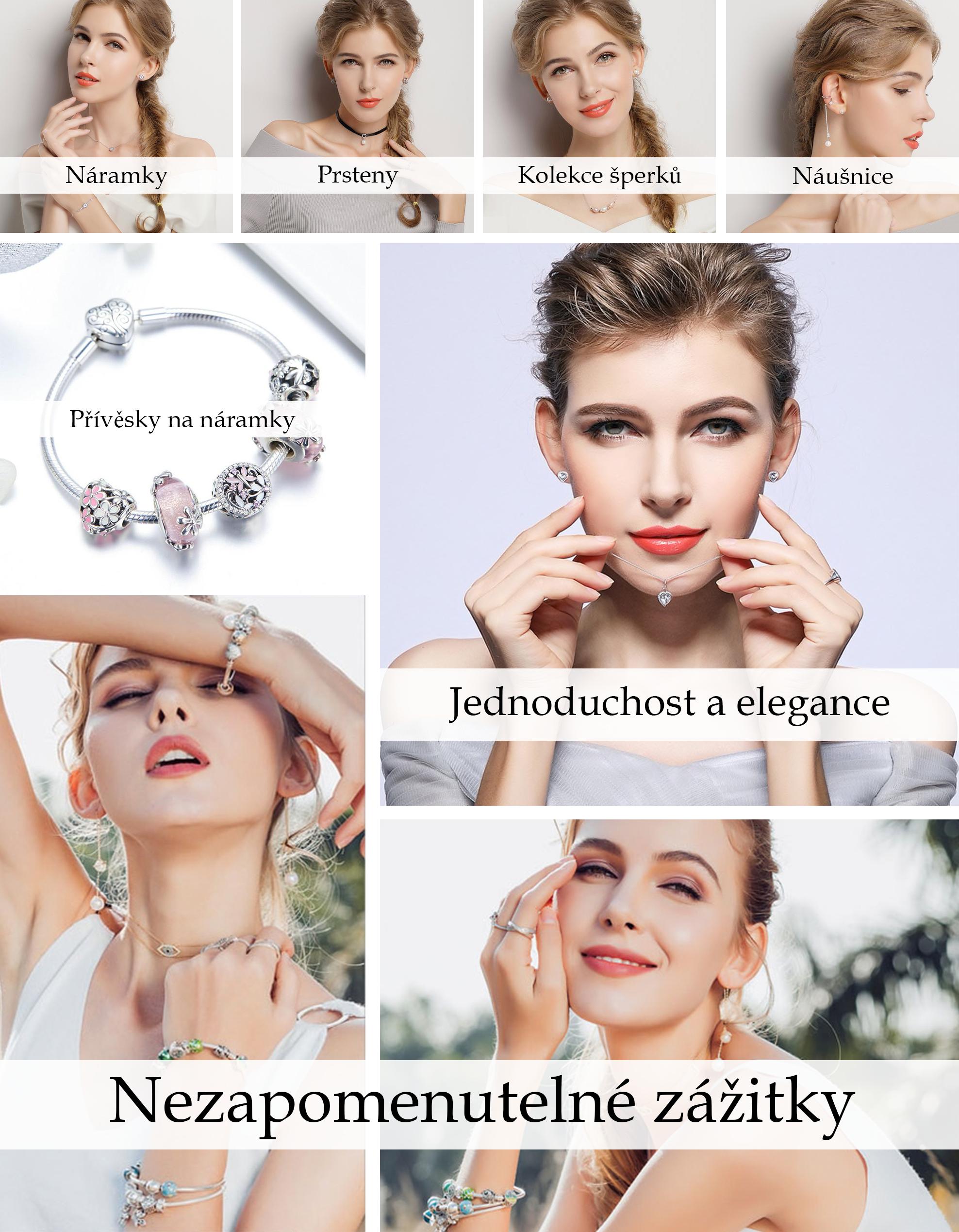 Šíroký výběr stříbrných přívěsků, náušnic, šperků, náhrdelníků