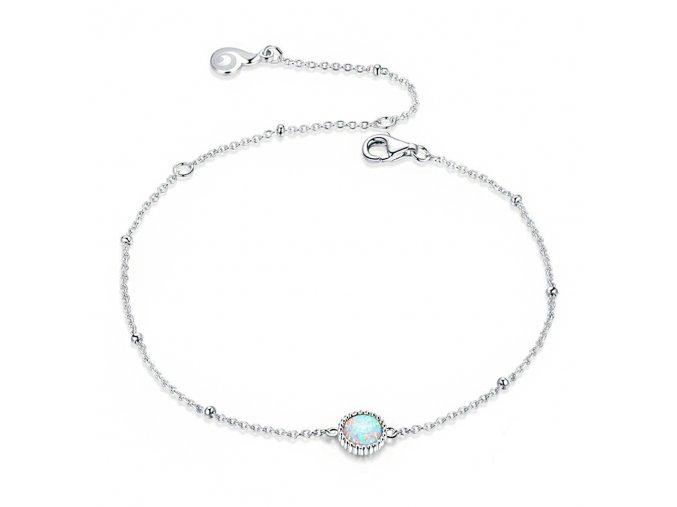 pandjjewellery stribrny naramek bez privesku dominantni opal