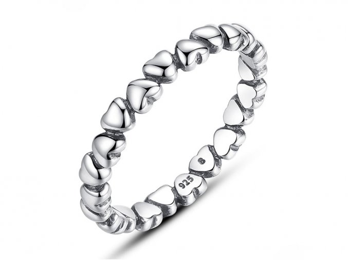 Stříbrný prsten Srdíčka SRP26