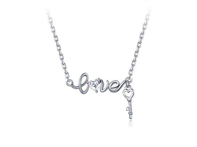 pandjjewellery stribrny nahrdelnik Love