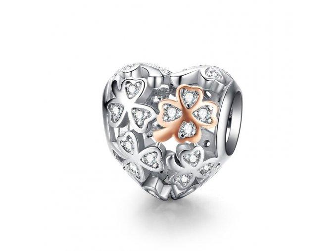 pandjjewellery stribrny privesek srdce stesti