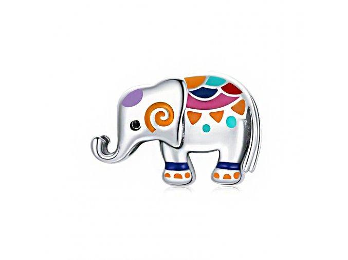 pandjjewellery stribrny privesek barevny slonik