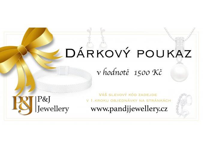 darkovy poukaz v hodnote 1500Kc pandjjewellery.cz
