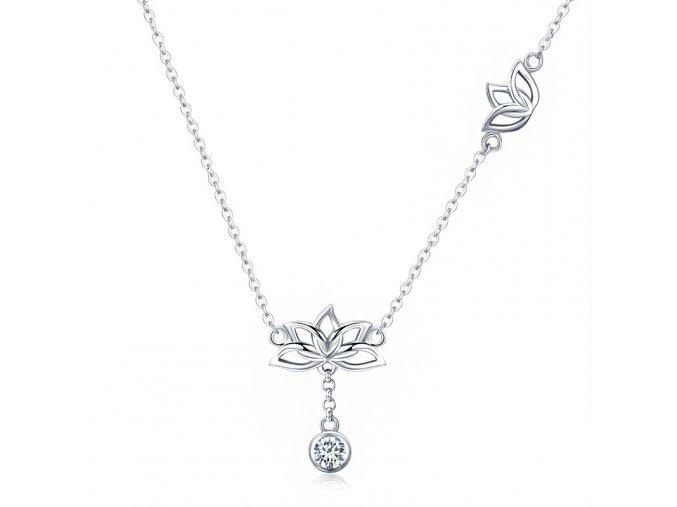 Stříbrný náhrdelník Lotosový květ SN39