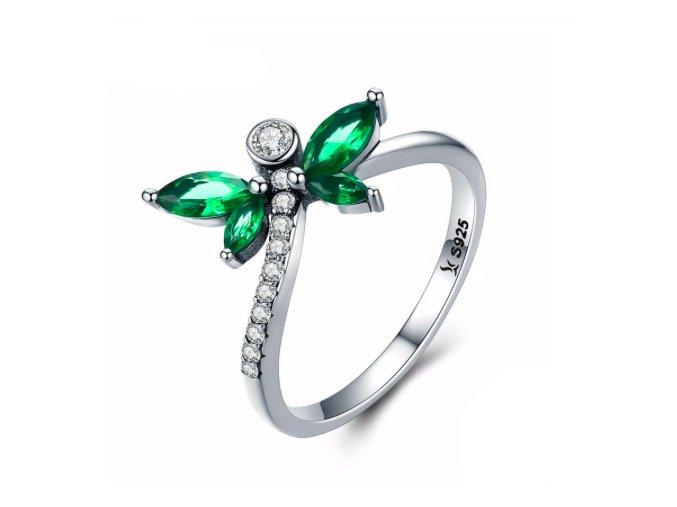 Stříbrný prsten Nádherná vážka SRP16