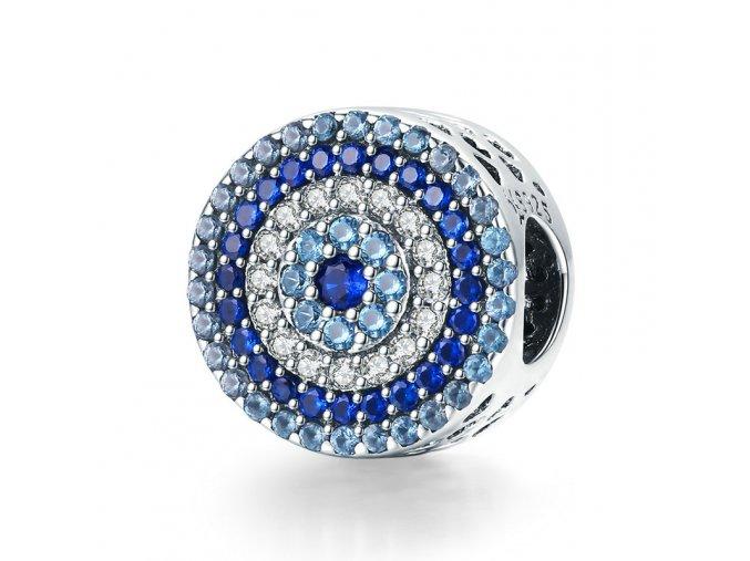 pandjjewellery stribrny privesek modre oko