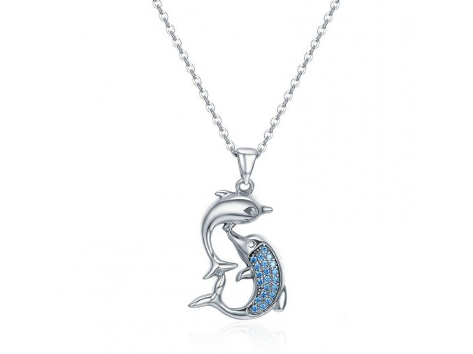 pandjjewellery stribrny nahrdelnik delfinci