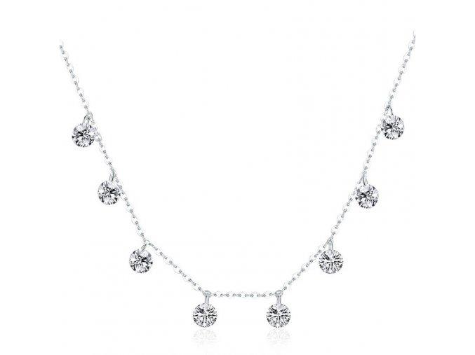 Stříbrný náhrdelník Třpytivé klenoty SN30
