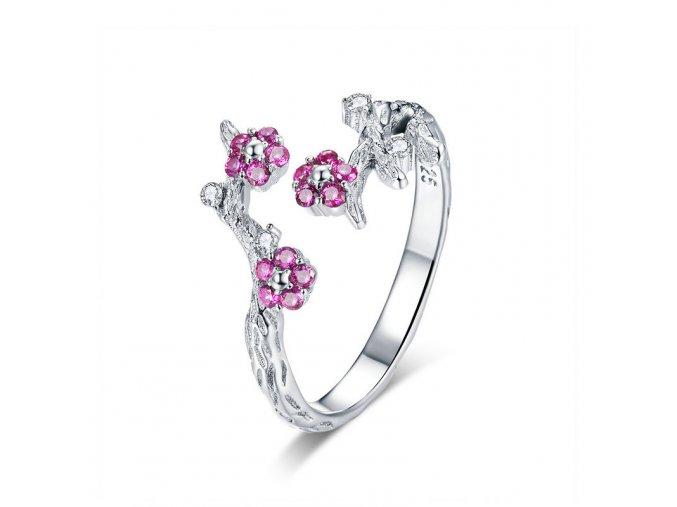 pandjjewellery stribrny prsten sakura