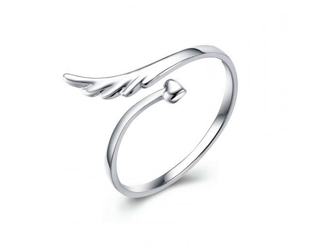 pandjjewellery stribrny prsten andelske kridlo